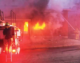 Fire fighters respond to an early morning fire on Booth Street. According to the Ottawa Fire Services, between 12 to16 people have been displaced due to the fire. Fire officials estimated the damage at $300,000 for the building and $100,000 for the contents.