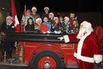 Santa rides the Bickle