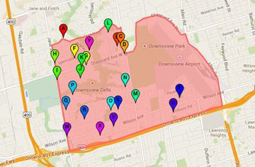 Ward 9 York Centre voting locations