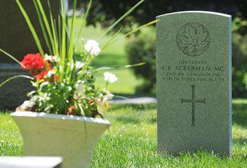 New monument for Lieutenant Arthur Ross Ackerman