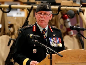 Chief of the Defence Staff General Jonathan Vance speaks at a Canadian Special Operations Forces Command change of command ceremony in Ottawa on Wednesday, April 25, 2018. Vance has been keeping in regular contact with Vice-Admiral Mark Norman despite the latter's surprise suspension last year as the military's second-in-command because of an RCMP investigation. THE CANADIAN PRESS/ Patrick Doyle