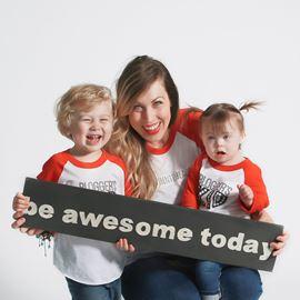 Tara McCallan with her son Noal and daughter Pip.