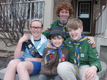 Alliston kids making friends, learning skills with Scouts and Girl Guides