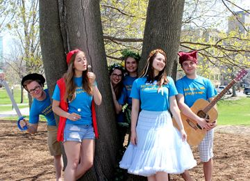The Queen's Barefoot Players perform at Victoria Park and Lake Ontario Park on July 5