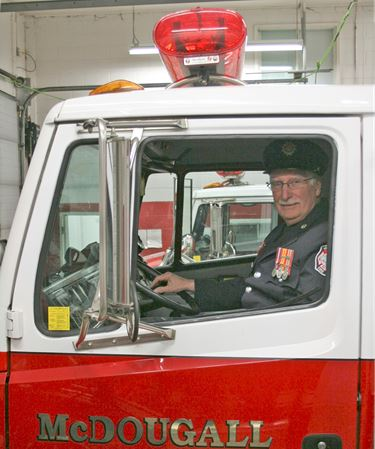 After 40 years a firefighter encourages grandsons to join