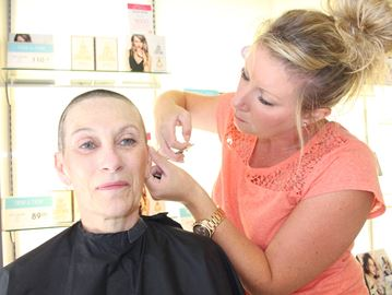 Wasaga woman shaves hair for cancer fundraiser