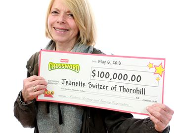 She's $100,000 richer