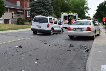 Collision closes Jasper Avenue from Ryan Street to Broadview Avenue