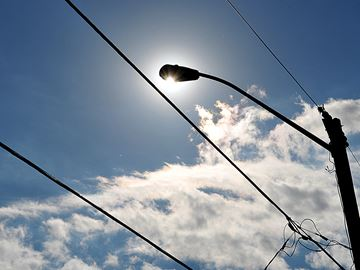 Streetlight conversion in Port Perry