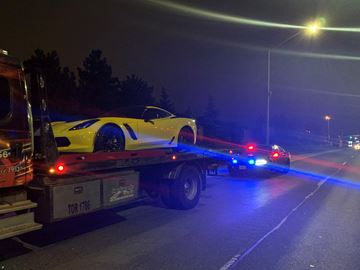 Police charged a 28-year-old Brampton with stunt driving on Friday, Oct. 11.