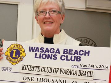 Wasaga Lions work with Kinettes for Christmas charity