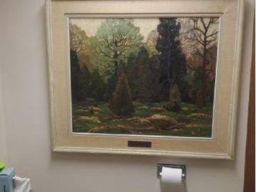 Palmer Painting in washroom