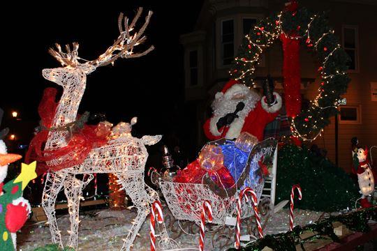 Santa arrives in Brighton