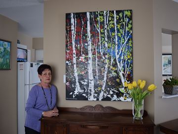Art show in Stittsville home