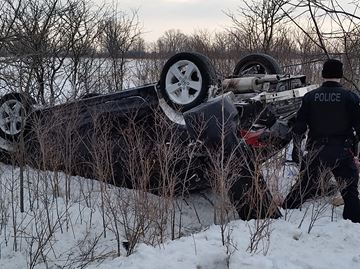Woman escapes serious injury after rollover in north Burlington