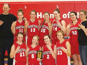 Penetanguishene Secondary School senior girls three-time winners
