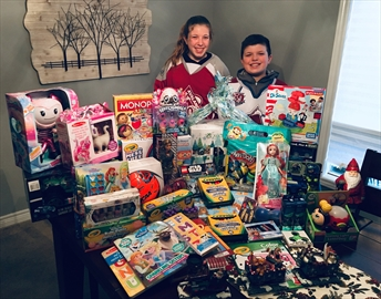 A total of 50 toys were collected for Ancaster Community Services.