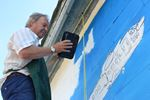 Artists Working on New Mural at Alliston Memorial Arena