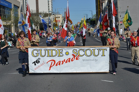 End of an era: Hamilton Scouts and Guides march through