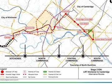 Prospective ION routes