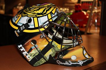 AUTOGRAPHED MASK TO BE AUCTIONED
