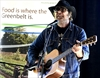 Daniel Lanois performs at press conference ahead of his Sept. 1 Harvest Picnic at Christie Lake Conservation Area.