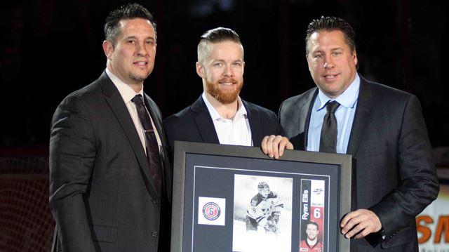 Windsor Spitfires honour Freelton's Ryan Ellis with jersey retirement