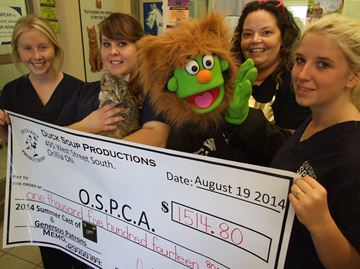 Orillia's Duck Soup donates to SPCA dogs