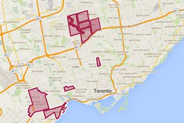 Top 10 Toronto neighbourhoods where Russian is spoken