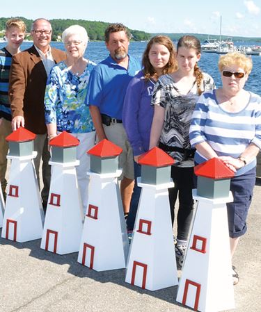Mini lighthouses nifty addition at Penetanguishene town dock