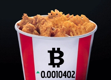 KFC Canada briefly offered to accept Bitcoins as payment for a $20 meal in a bucket <br>