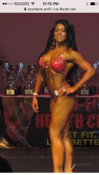 Stephanie Marlin competing in a local body building competition.