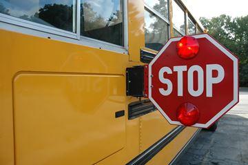 Schoo bus stop sign