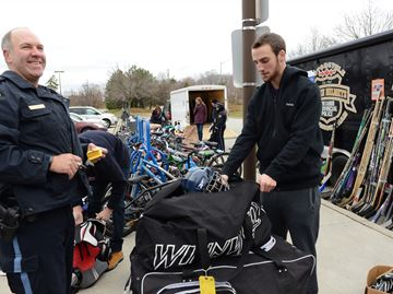 Burlington sports equipment drive fills two trailers for First Nations kids