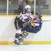 One of John Pokocky's shots for minor hockey