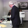 Raw Video: Gilles Duceppe votes in Montreal