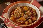 Mexican pork, squash and chili stew perfect on a cold day