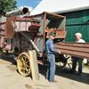 Threshing machine restoration for Harlaine Heritage Day