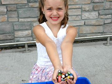 Local girl charged up about diverting batteries from landfills