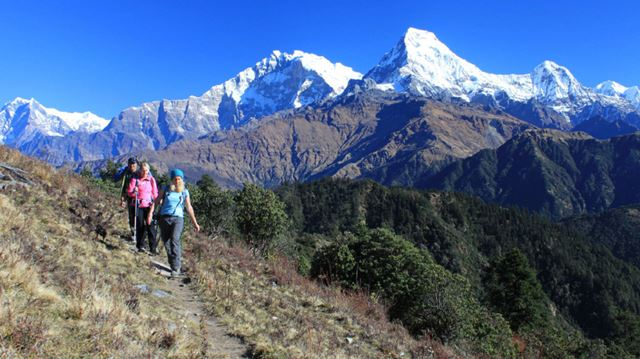 Trek in Nepal leads to perspective