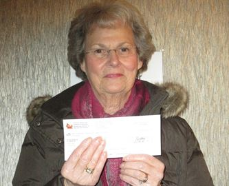 Lucille Crawford of Perth is celebrating after winning $100,000 with ENCORE