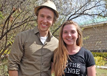 Brantford teenager Sierra Cunningham meets Free the Children and We Day co-founder Craig Kielburger during a building project with Me to We in Kenya last summer. Sierra is travelling to China with Me to We this summer to work on another socially conscious project.