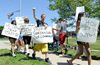 Students protest outfront deaf school