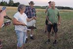 No-till organic farm tour