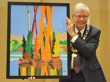 Painting by late Midland artist Dennis Milton donated to town