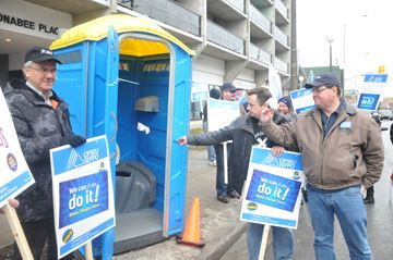 Port-A-Potty protest