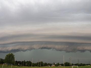 Shelf cloud in Durham