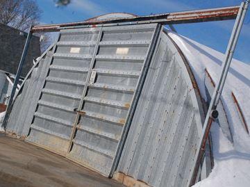 Rusting salt shed