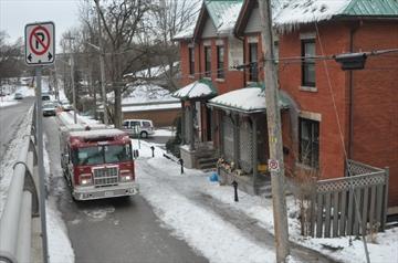 Regent Street fire scene