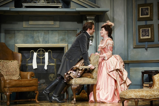 a paper on satire in goldsmiths play she stoops to conquer Oliver goldsmith: she stoops to conquer goldsmith's she stoops to conquer has a somewhat farcical element to it which is, on the whole, achieved by a series of contrasts.